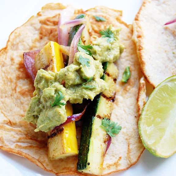 Paleo Vegetarian Tacos- with zucchini, squash and eggplant.