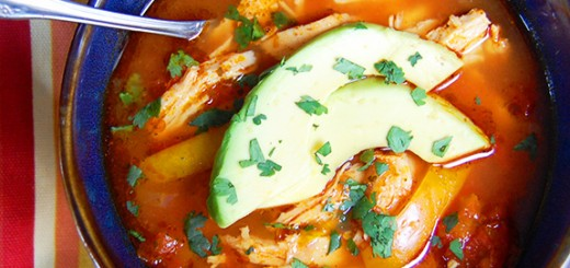 Slow Cooker Chicken Enchilada Soup- holy moly this is good! One of my favorite Paleo soups of all-time.
