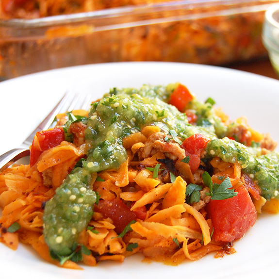 Spicy Southwestern Paleo Casserole- one of my favorite Mexican Paleo dishes! A hit with my family and friends.