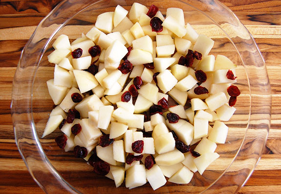 chopped pear