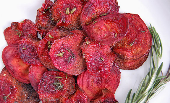 How to Make the Best Baked Beet Chips | Paleo Grubs