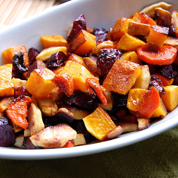 Maple-Glazed Root Vegetables (YUM!)- these are so addictive! Your kids will LOVE them.