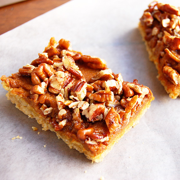 Paleo Pumpkin Streusel Bars- never make these for your friends! If you do, they will request them over, and over, and over… They are that good.