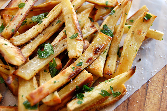 Addictive Parsnip Fries with Truffle Oil | Paleo Grubs