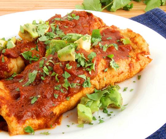 The Best Paleo Beef Enchiladas (YUM!)- love these grain-free beef enchiladas! So good.