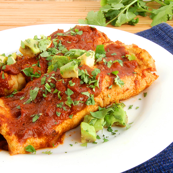 The Best Paleo Beef Enchiladas (YUM!)- love these grain-free beef enchiladas! So good.