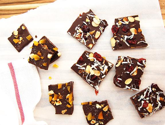 fruit chocolate bark