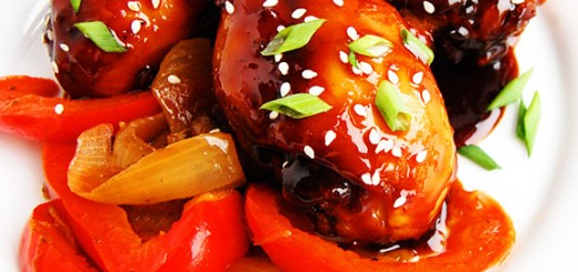 Spicy Slow Cooker Orange Chicken Drumsticks- all the deliciousness of orange chicken without the unhealthyness! You need to try this. My friends request this EVERY TIME they come over.