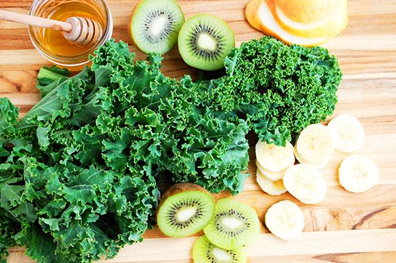 kale and kiwi