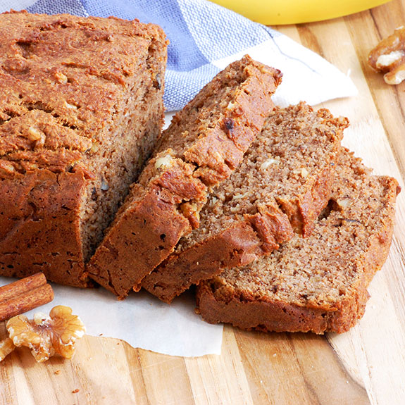 Gluten Free Banana Nut Bread (Moist and Healthy)- this never lasts long art my house! My kids and friends LOVE this recipe.