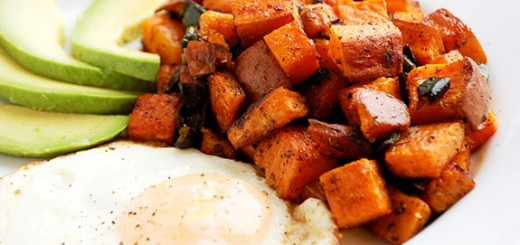Bake Sweet Potato Home Fries- eat one and you'll probably try to eat the whole batch! YUMMO.