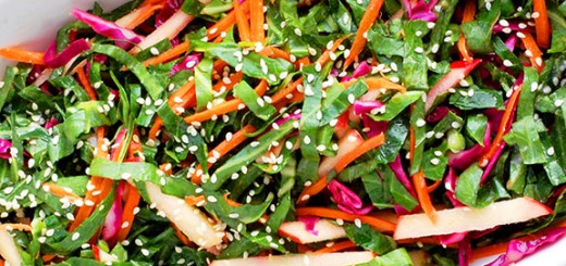 Collard Green Paleo Slaw (Super Slaw)- packed full of antioxidants and vitamins. Works great for a healthy lunch or side dish.