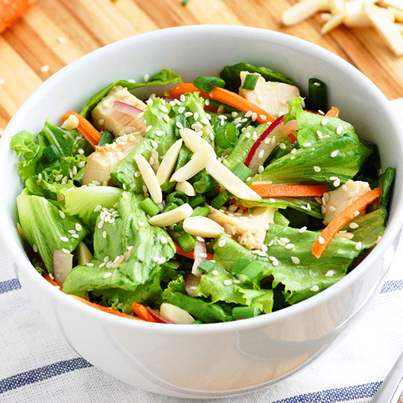 Classic Paleo Asian Chicken Salad- A lighter, healthier and more tasty version of the classic Asian chicken salad.