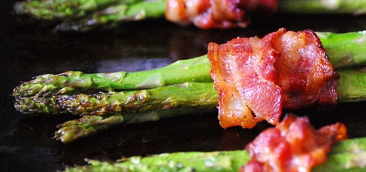 Bacon-Wrapped Roasted Asparagus- Bacon + Asparagus = AWESOMENESS!!!