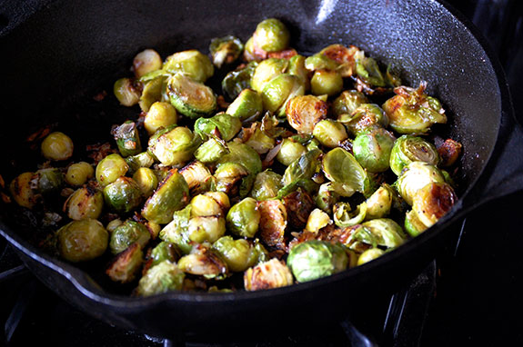 cooking the sprouts