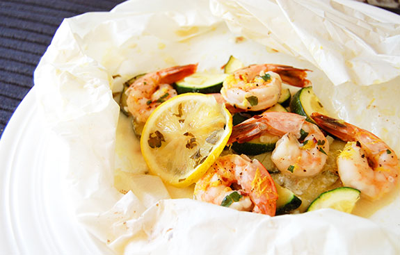 healthy baked shrimp