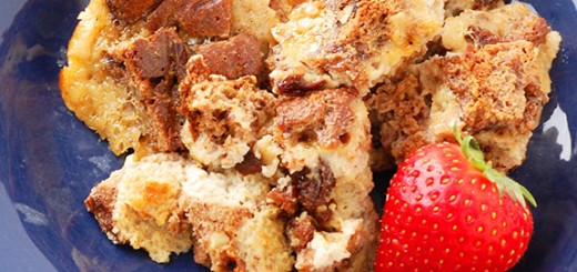 Cinnamon Raisin Paleo Bread Pudding- a warm, gooey bread pudding that is completely dairy and gluten-free.