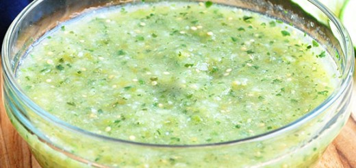 Perfect Tomatillo Salsa Verde- I love this! It is the perfect mix of tartness and spicy.
