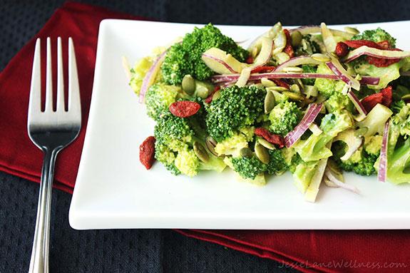 creamy paleo broccoli salad