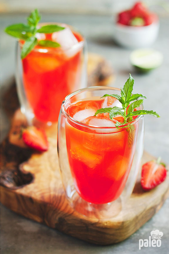 Non alcoholic paleo strawberry mojito paleo grubs for Drink recipes without alcohol