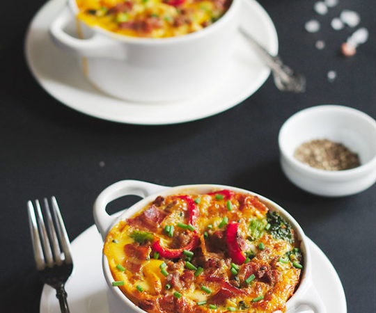 This is my all-time favorite breakfast casserole! Has loads of bacon, veggies and sweet onions. So delish. My family loves it!