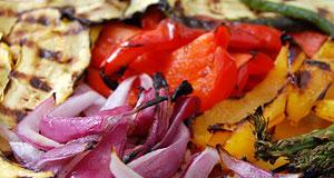 grilled veggie salad platter