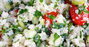 low carb cauliflower tabbouleh