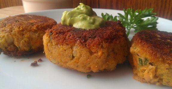 Salmon-Cakes-with-Cilantro-Lime-Avocado-Dip-(Paleo,-Autoimmune-protocol)