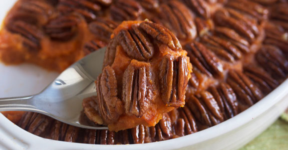 Sweet-Potato Casserole With Candied Pecans