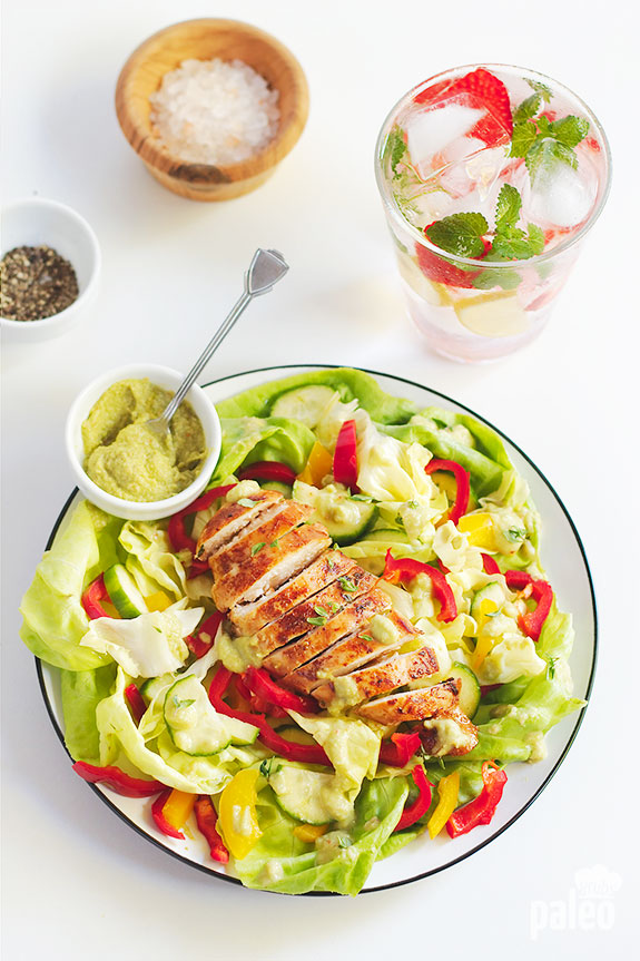 Dive into this chicken salad with avocado and it will likely become one of your lunchtime favorites. It's bursting with flavor, healthy fat, and potassium from the avocado.