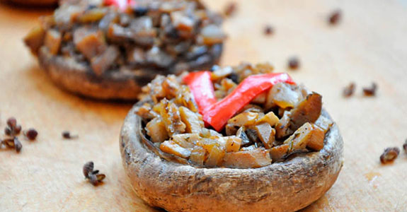 Basi Stuffed Portobello Mushrooms