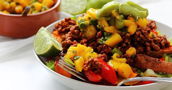 Beef Taco Nacho Bowl