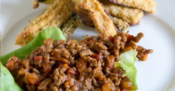 Big Easy Sloppy Joes With Cajun Zucchini Fries