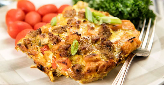 Breakfast-Casserole-With-Sausages