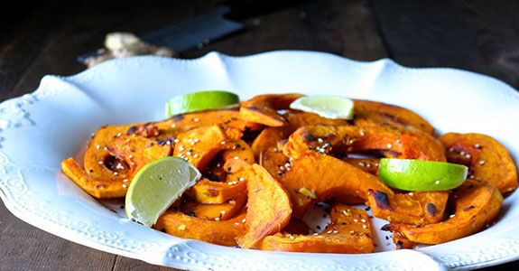 Ginger and Cumin Roasted Squash