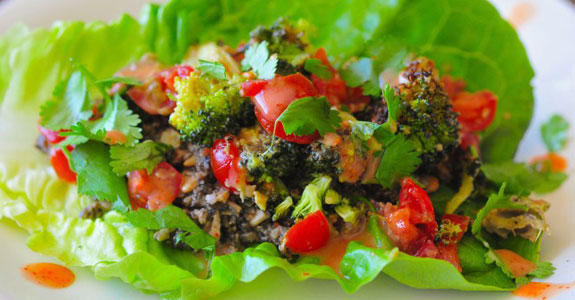 Mushroom-Meat-Tacos-With-Roasted-Broccoli-Guacamole
