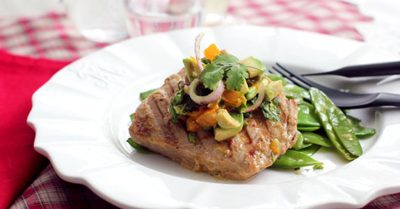 Panini Grilled Tuna Steaks