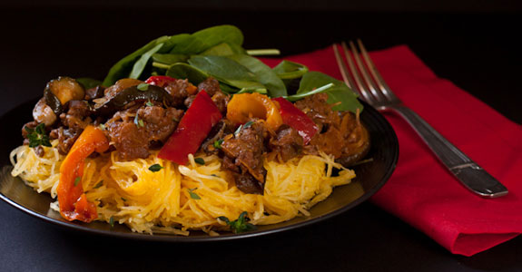 Ratatouille-with-ground-beef-and-spaghetti-squash
