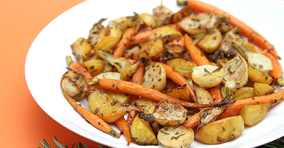 Rosemary-Roasted Root Vegeteabkes Agrodolce