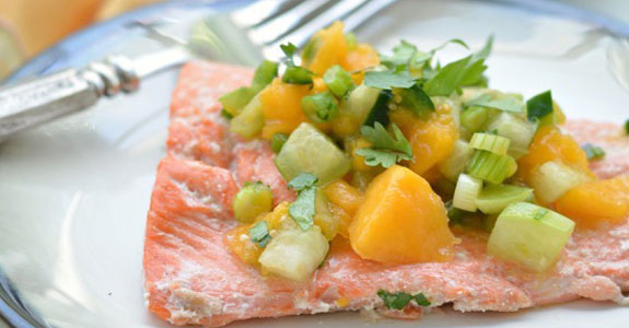 Salmon-With-Tomatillo-and-Papaya-Salsa