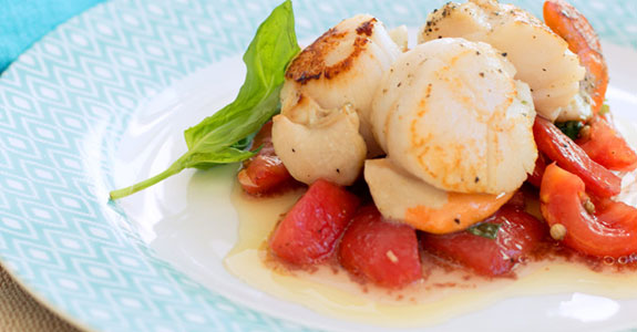 Scallops With Tomato Vierge