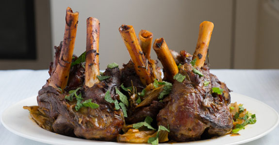 Slow Cooked Lamb Shanks