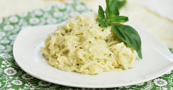 Spaghetti-Squash-With-Basil-Cachew-Cream