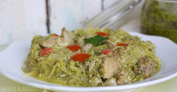Spaghetti-Squash-With-Cilantro-Macadamia-Pesto