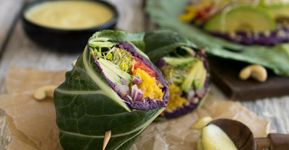 Sweet-Potato-Collard-Wraps-With-Cashew-Honey-Mustard