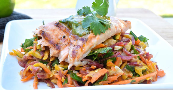 Thai Salmon With Carrot Salad