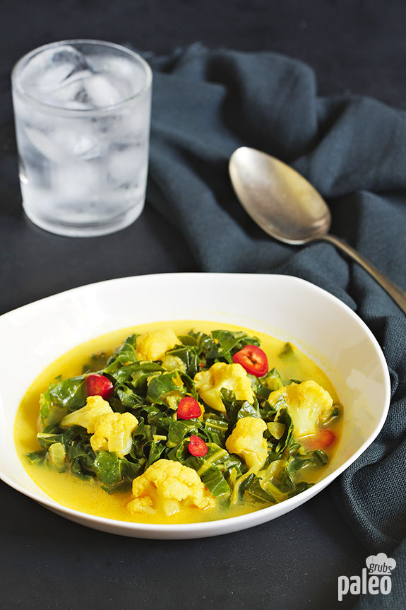 Cook up our collard greens curry and you'll experience some traditional flavors as well as some new spices and seasonings that enhance the flavor even more. Totally yum!