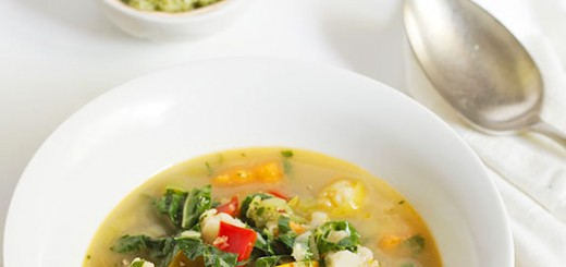 I am so addicted to this summer garden vegetable soup! It is packed with fresh veggies, but everyone loves it. Even the pickiest kids will fall in love with this soup.