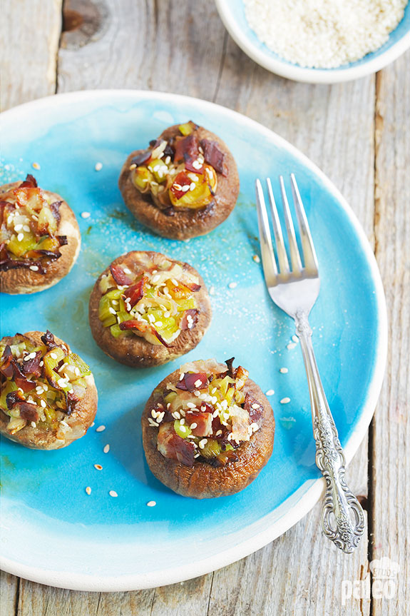 These stuffed mushrooms are so tasty! They work great as an appetizer and can also stand in as a side dish when you need one.