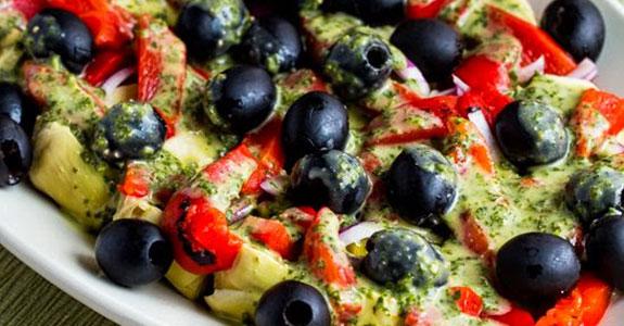Artichoke-Antipasto-Salad-With-Basil-Vinaigrette